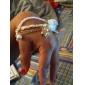 bowknot chiffon pulseira liga pingente elefante das mulheres