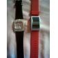 suave silicone pulseira relógio de pulso led vermelho - vermelho