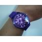 남녀공용 국화스타일 쿼츠 손목시계 (퍼플)