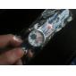 아이들의 축구 스타일의 실리콘 아날로그 석영 손목 시계 (파란색)를 주도