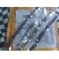 motif à rayures or et noir bracelet en titane acier hommes