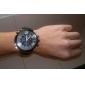 V6 Homme Montre Militaire Montre Bracelet Quartz Quartz Japonais Silikon Bande Noir
