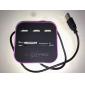 tout en un lecteur de carte multi avec 3 ports USB 2.0 combo pour SD / MMC / MS / m2 (de couleurs assorties)
