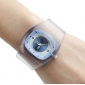 femmes en plastique montre analogique bracelet à quartz (couleurs assorties)