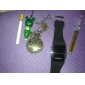 Аналоговые кварцевые карманные часы с надписью DAD (под бронзу)
