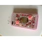Rhinestone Mirror Pattern Case for iPhone 4 and 4S
