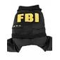 애완견용 FBI 스타일 조끼와 바지 (XS-XL, 블랙)