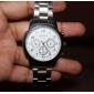 Masculino Relógio Elegante Quartzo Lega Banda Prata