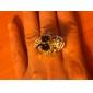 Skull Case Metal Ring Watch