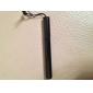 inoxidável touchscreen caneta stylus com anti-pó ficha para o ipad, iPhone, iPod touch, Xoom e cartilha (preto)