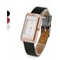 elegante mulher estilo pu analógico relógio de pulso de quartzo (cores sortidas)