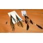 nationales de style boucles d'oreilles perles plumes
