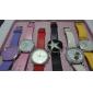 여성을위한 PU 밴드 큰 다이얼 쿼츠 손목 시계 (흰색)