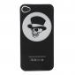 세련된 쿨 두개골 및 아이폰 4 & 4S (검은 색)에 대한 검 스타일 하드 케이스