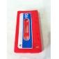 защитные уникальные кассеты мягкий чехол для iphone 4 (красный)
