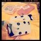 Жесткий чехол с милой пандой для  iPhone 4 и 4S (белый)