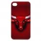boîtier rouge tendance taureau de protection pour iPhone 4 et 4s