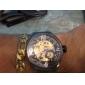 Masculino Relógio de Pulso relógio mecânico Automático - da corda automáticamente Gravação Oca Aço Inoxidável Banda Preta marca SHENHUA