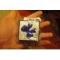 lureme®5x5cm caixa pequeno anel de papel de tamanho arco (azul)