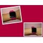 남녀공용 실리콘스타일 스포츠 레드 LED 손목시계 (핑크)