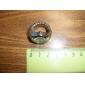 여성의 세련된 합금 아날로그 석영 링 시계 (실버)