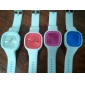 Silicone Band Fashion Women Men Unisex Casual Jelly Sport Watch - Silvery Cool Watches Unique Watches