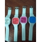 Unisex Quartz Analog Jelly Red Dial White Silicone Band Wrist Watch Cool Watch Unique Watch