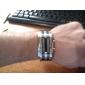 Herrn Armbanduhr Einzigartige kreative Uhr digital Kalender LED Edelstahl Band Silber