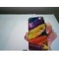 coloré cas dur de modèle de plume pour iphone 5/5s