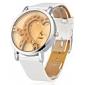 Mulheres Relógio de Moda Quartzo Japonês imitação de diamante Quartzo Silicone Banda Brilhante Heart Shape Branco