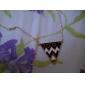 z&gotejamento de óleo X® triângulo liga de forma colar camisola