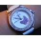 Women's Fashionable PU Analog Quartz Wrist Watch (Assorted Colors)