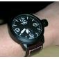 pu homens analógico relógio mecânico moda (preto)