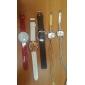 femmes boîtier de montre de style d'argent cuir PU analogique montre-bracelet à quartz avec cristaux (couleurs assorties)