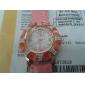 Стали Женская группа аналоговые кварцевые часы Браслет-манжета с красочными Набор цветочный узор
