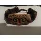 moda artesanal pulseira de couro do zodíaco-Carneiro (bss26)