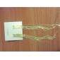 lureme®golden pendants d'oreilles de la chaîne (couleurs assorties)