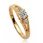 Lureme®Hearts And Arrows Diamond RingImitation Diamond Birthstone
