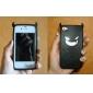 demônio padrão de capa de silicone estilo para iphone 4 e 4S