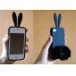 Rabbit Protective Silicon Case For iPhone 4 Black