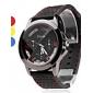 unisexe montre-bracelet en caoutchouc analogique quartz (couleurs assorties)