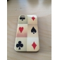 Poker Pattern Hard Case for iPhone 4 and 4S (White)