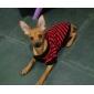 estilo britânico da listra t-shirt para cães (XS-XL, cor aleatória)