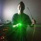 Penvormige groene laseraanwijzer met speciale effecten in 5 patronen, 5mW 532nm (2xAAA)