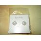 Forme de Fleur Boucles d'oreille goujon Bijoux Femme Quotidien Perle Argent sterling Blanc