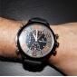 V6 Homens Relógio Militar Relógio de Pulso Quartzo Quartzo Japonês Silicone Banda Preta