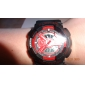 Unisex Analog-Digital Multi-Functional Red Dial Black Silicone Band Sporty Wrist Watch Cool Watch Unique Watch
