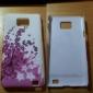 Ameixa Caso Pattern Flor rígido com diamante para Samsung I9100 Galaxy S2