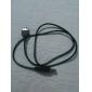 USB 2.0 um macho para uma fêmea cabo de extensão (preto) 0.8m