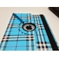 Case em Pele com Suporte para Novo iPad e iPad 2 - Grelha (Azul)